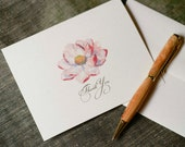 Pink Magnolia Blossom Thank You Notes