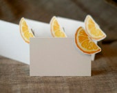 Orange Slice - Place Card - Gift Card - Table Number Card - Menu Card -Holidays -weddings events