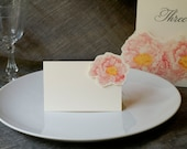 Peony Place cards, escort cards in Blush Pink- for events weddings, parties and holiday entertaining