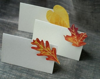 Autumn  Leaf - Place Card - Gift Card - Table Number Card - Menu Card -weddings events