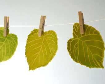 Green Leaves Decorations - Place cards, escort cards, dinner parties, weddings, events