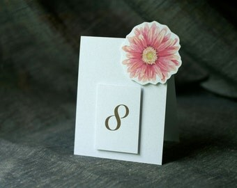 Table Number Tents-Pink Daisy - Decoration for Events, Weddings, Showers, Parties