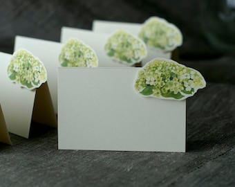 Green Hydrangea Small Tent - Place Card - Escort Card - Gift Card  - Menu card weddings events