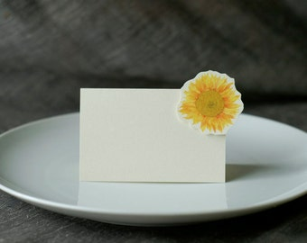 Sunflower Yellow  Small Tent - Place Card - Escort Card - Gift Card  - Menu card weddings events