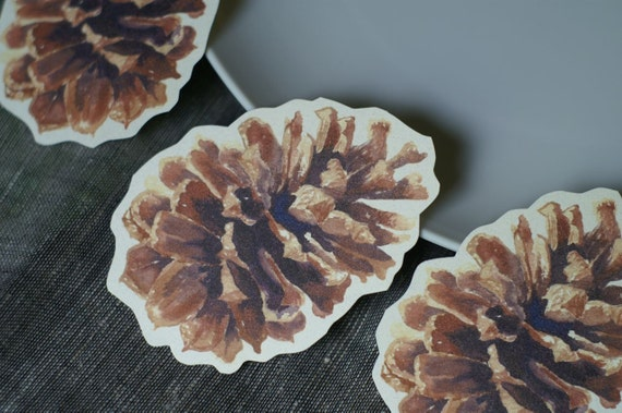 Pine Cone Cut Outs  - Place cards, wishing tree, wedding decoration, baby shower, escort cards