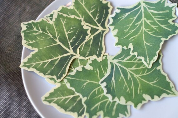 Sycamore Leaves Decorations - Place cards, escort cards, dinner parties, weddings, events