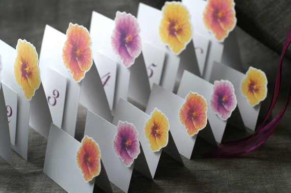 Hibiscus Mix - Place Card - Gift Card - Table Number Card - Menu Card -weddings events