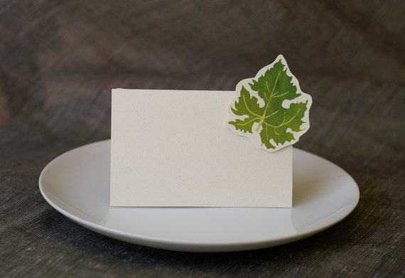 Grape Leaf - Wedding Place Card - Gift Card - Table Number Card - Menu Card -weddings events
