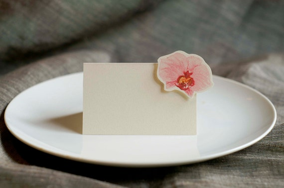 Pink Orchid Small Tent - Place Card - Gift Card - Table Number Card - Menu Card -weddings events