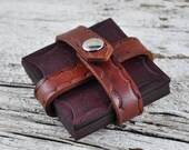 Rustic Cabin Leather Coaster Set