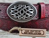 Celtic Knight Leather Belt