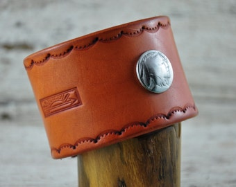 Native Leather Wrist Band