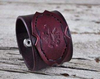 Scorpion Leather Cuff