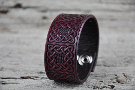 Celtic Knot Leather Cuff Bracelet