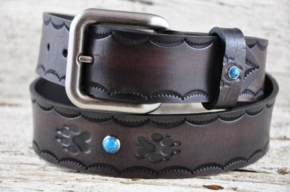 Spirit of the Wolf Leather Belt