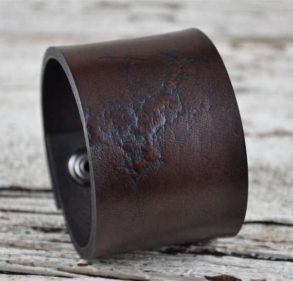 Rustic Grain Leather Cuff