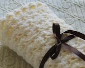 Crochet baby blanket - Baby boy blanket- Baby Girl Blanket Off-white Stroller/Travel/Car seat blanket- Unisex baby blanket- Baby shower gift