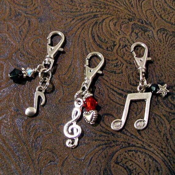 zipper pull trio charms set of 3 purse pulls