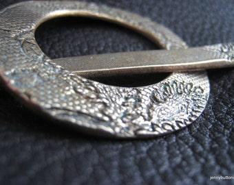 Bronze Lace Shawl Pin
