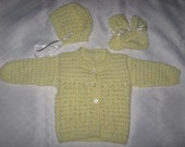 Baby Sweater Set - Yellow