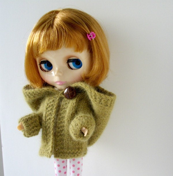 Blythe Doll Hooded Coat Knitting Pattern Cardigan Jacket