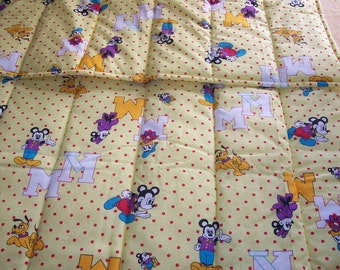 Custom Mickey Mouse and friends baby crib  blanket