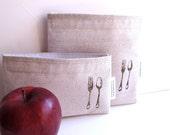 DINE Eco Friendly Reusable Snack & Sandwich Bag Set