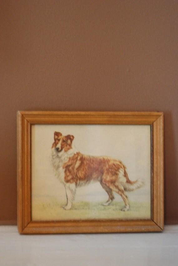 """Vintage Framed Dog 5"""" x 7"""""""