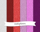 Digital Scrapbooking Glitter Paper Pack - Valentine Pack of Pinks and Reds