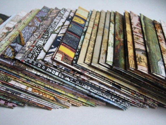 Map Cards Set of 5 with Map Envelopes