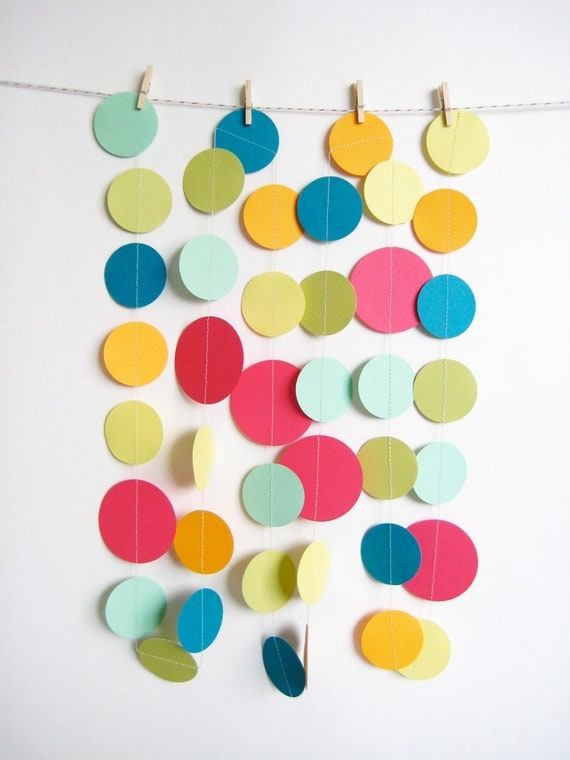 Color Burst Paper Garland in Brights