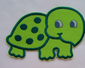 Little GREEN TURTLE is a DIY Iron On - Sew On Applique - Turtle