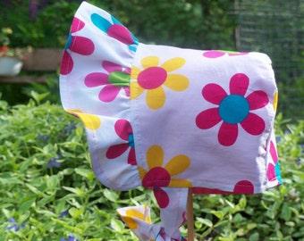 New Born Bonnet, COTTON BABY BONNET, Unique Bonnet, Toddler Sun Hat, Pioneer Bonnet, Baby Bonnet, Reversible Bonnet, Easter Bonnet