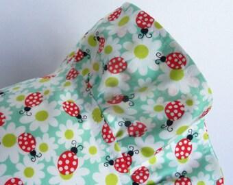 Easter Bonnet - BABY BONNET - Vintage Inspired - Lady Bug - Modern Baby Bonnet - Cotton Bonnet