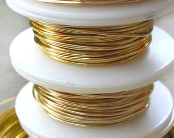 14 Gauge 10 feet GOLD Non Tarnish Permanently Colored Enameled craft Wire lead nickel free
