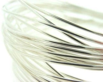 14 Gauge 10' feet fine SILVER plated NonTarnish Permanently Colored Enameled craft Wire round LEAD FREE