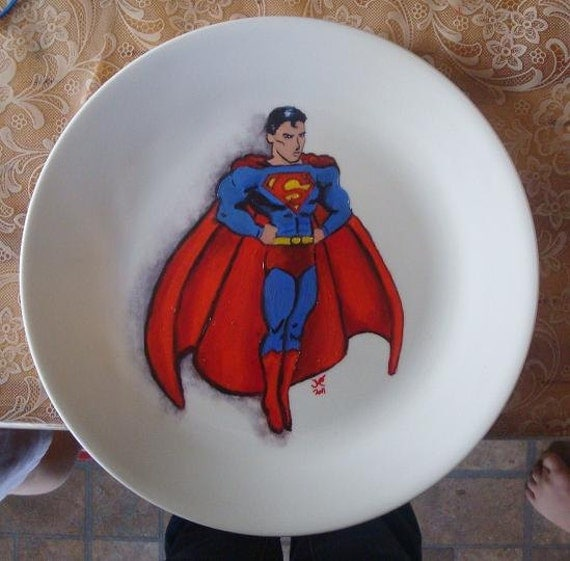 Custom Superhero Plate