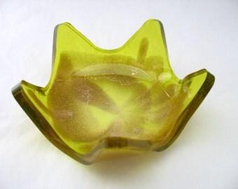 Resin bowl olive green gold glitter yellow lemon star small items eg keys coins paperweight etsy australia