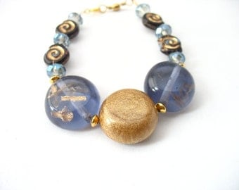 Gold and blue bracelet jewelry , handmade women resin jewellery australia , blue bracelet , handmade in australia , brides maid jewelry