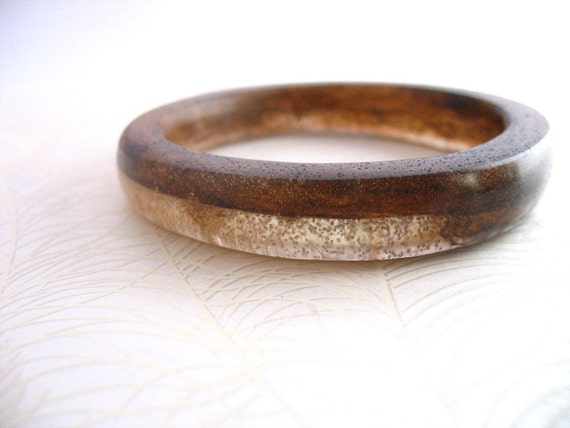 Resin bangle bracelet champagne brown bubble jewelry, resin bangle jewelry , dark walnut rani design thin narrow bangle resin wood bangle