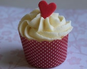 72 fondant mini heart toppers in red - CUSTOM order for amysharma