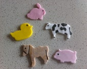 3 Dozen Farm Animal toppers - CUSTOM ORDER for chelcb