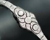 Great Gatsby Art Deco bracelet diamonds and onyx 1920s