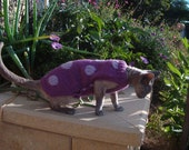 CAT JUMPER SWEATER. Ideal for PETERBALD, SPHINX, CORNISH REX ETC. MADE TO MEASURE