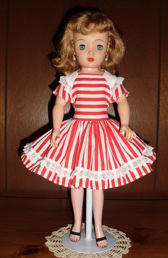 """Red and White Stripe Dress and Slip for 18"""" Miss Revlon FREE SHIPPING"""