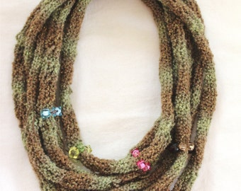 KNITTING PATTERN- Knit Cowl/ Necklace PDF format