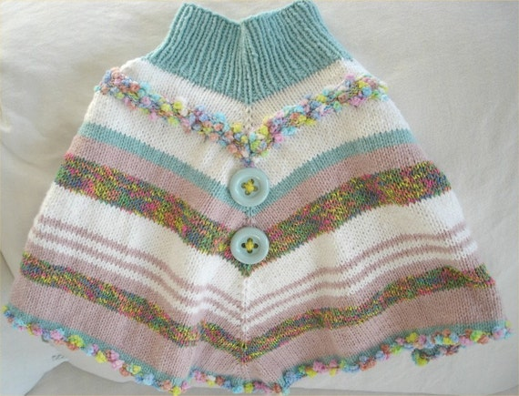 Unusual Knitting Patterns For Toddlers : PDF poncho KNITTING PATTERN- Fun Toddler Poncho pdf file ...