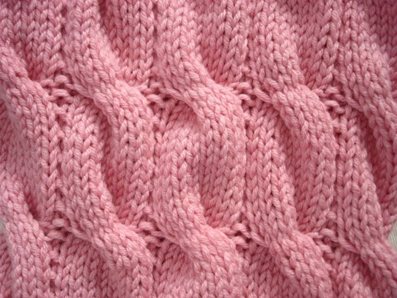 Digital Knitting Patterns : KNITTING PATTERN- Cable Infinity Scarf PDF knitting pattern from theknittingn...