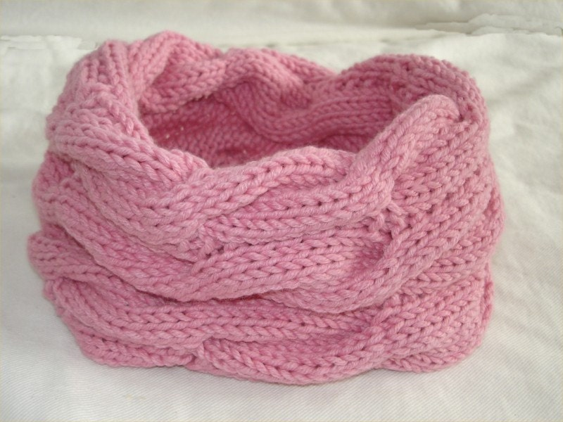 KNITTING PATTERN Cable Infinity Scarf PDF by theknittingniche