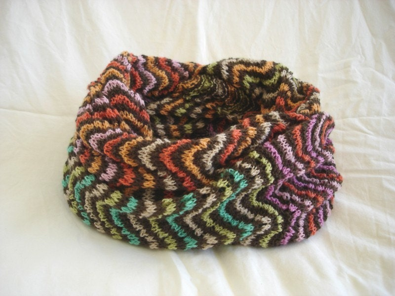 KNITTING PATTERN Colorful Lace Cowl in PDF by theknittingniche